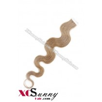16 Inch - 26 Inch Body Wave  #18 100% Indian Remy Human Hair Skin Weft Tape In Hair Extensions 40pcs 100g [SWTW012]