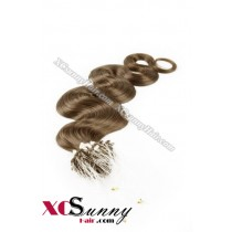 14 Inch - 26 Inch Body Wave #10 Micro Loop Ring Human Hair Extensions 0.5g*50s  [MLRB55008]
