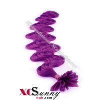 18 Inch - 26 Inch Body Wave #Purple Nail Tip Human Hair Extensions 1g*50s [NUTB15025]