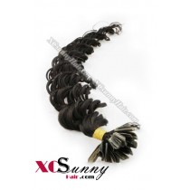 18 Inch - 26 Inch Deep Wave #1B Nail Tip Human Hair Extensions 1g*50s [NUTD15002]