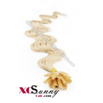 18 Inch - 26 Inch Body Wave #613 Nail Tip Human Hair Extensions 1g*50s [NUTB15021]
