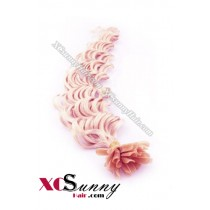 18 Inch - 26 Inch Deep Wave #Pink Nail Tip Human Hair Extensions 1g*50s [NUTD15024]
