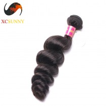 Wholesale-12-26 Inch 5A Deluxe Loose Wave 100% Brazilian Virgin Hair Weave Remy Human Hair Weft 100g/pcs [BHV103]