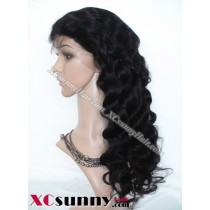 20 Inch Body Wave  #1B Glueless Lace Front Wigs 100% Indian Remy Human Hair [GLH097]