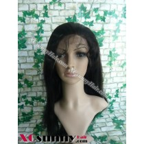 16 Inch Silky Straight #1B  Glueless Full Lace  Wigs 100% Indian Remy Human Hair [GFH087]