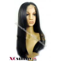 16 Inch Silky Straight #1B  Glueless Full Lace  Wigs 100% Indian Remy Human Hair [GFH085]