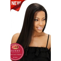 16 inch Silky Straight #1B Lace Front Wigs 100% Indian Remy Human Hair [LFH113]