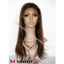 16 Inch Yaki Straight #4 Full Lace Wigs 100% Indian Remy Human Hair [FLH030]