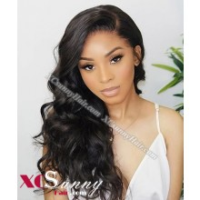 18 Inch Pre Plucked Body Wave 360 Lace Frontal Wig Brazilian Virgin Hair Wigs For Black Women, 4 Inch Swiss Lace Front Wig Wholesale - [LFW007]