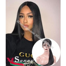 20 Inch Pre Plucked Silk Straight 360 Lace Frontal Wig Brazilian Virgin Hair Wigs For Black Women, 4 Inch Swiss Lace Front Wig Wholesale - [LFW013]