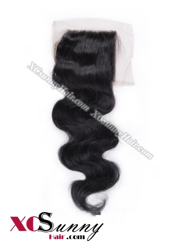 Indian 7A Body Wave Lace Closure Silk Base 8-20 inch 100% Virgin Remy Human Hair Wholesale 100g/pcs [ILC002]