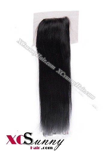 Indian 7A Straight Lace Closure Silk Base 8-20 inch 100%  Virgin Remy Human Hair Wholesale 100g/pcs [ILC001]