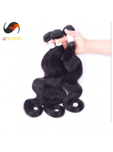 Wholesale-(12-26)Inch 4A Body Wave 100% Peruvian Virgin Hair Weave Remy Human Hair Weft 100g/pcs [PHV002]