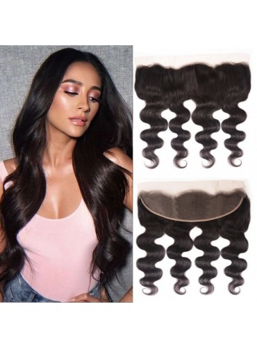 XCsunnyHair Pre Plucked 13x4 Inch Body Wave Lace Frontal Hair Closure 100% Virgin Hair [LFC002]