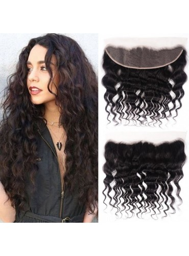 XCsunnyHair Pre Plucked 13x4 Inch Natural Wave Lace Frontal Hair Closure 100% Virgin Hair [LFC005]