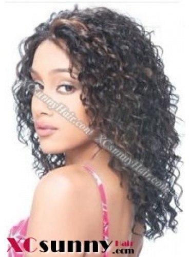 14 Inch Deep Wave #1B Full Lace Wigs 100% Indian Remy Human Hair [FLH276]