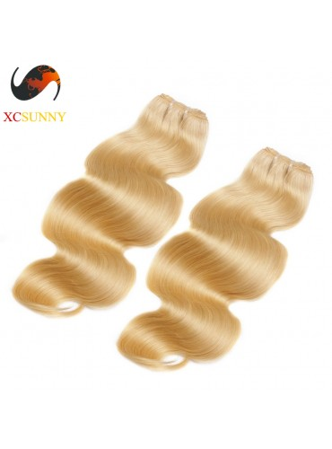 Wholesale Mix Length 2pcs-12-26 Inch #613 7A Deluxe Body Wave 100% Brazilian Virgin Hair Weave Remy Human Hair Weft 100g/pcs [BHV606]