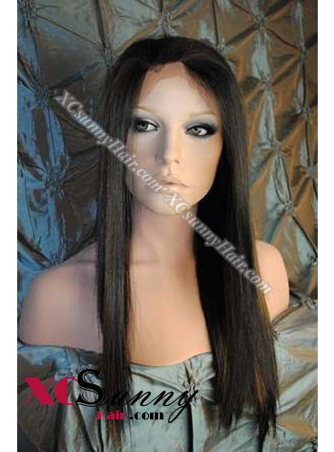 16 Inch Silky Straight #1B/30 Glueless Full Lace Wigs 100% Indian Remy Human Hair [GFH291]
