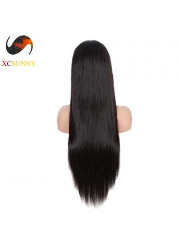 12-26 inch Virgin Brazilian Straight Full Lace Human Hair Wigs Pre Plucked Natural Hairline With Baby Hair [FVH001]