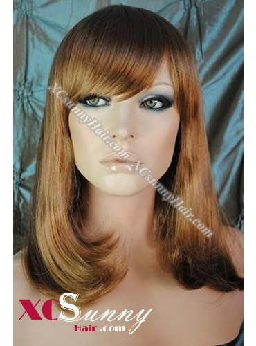 10 Inch Bobo Silky Straight #27 Glueless Full Lace Wigs 100% Indian Remy Human Hair [GFH304]