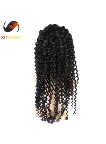 12-26 inch Virgin Brazilian Deep Wave Full Lace Human Hair Wigs Pre Plucked Natural Hairline With Baby Hair [FVH003]
