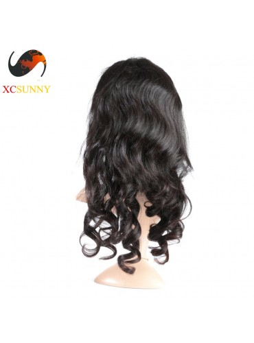 12-26 inch Virgin Brazilian Loose Wave Full Lace Human Hair Wigs Pre Plucked Natural Hairline With Baby Hair [FVH004]
