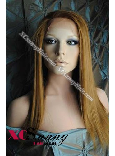 16 Inch Silky Straight #30 Glueless Full Lace Wigs 100% Indian Remy Human Hair [GFH290]