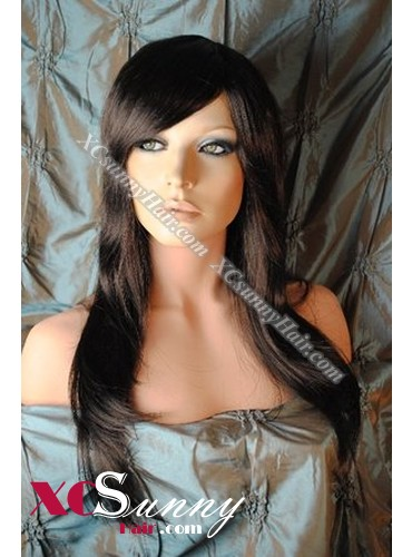 16 Inch Bobo Silky Straight #1B Natural Black Glueless Full Lace Wigs 100% Indian Remy Human Hair [GFH309]
