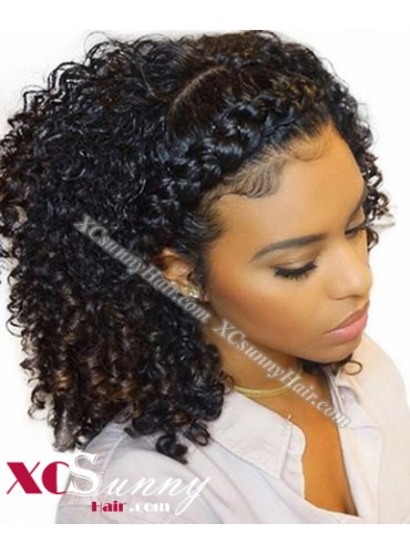 18 Inch Pre Plucked Curly 360 Lace Frontal Wig Brazilian Virgin Hair Wigs For Black Women, 4 Inch Swiss Lace Front Wig Wholesale - [LFW006]