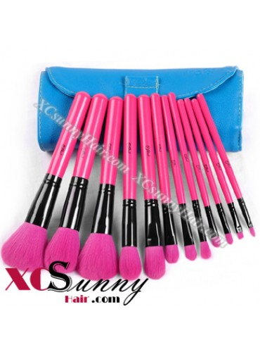 12PCS ROSY MAKEUP BRUSH SET [MKS005]