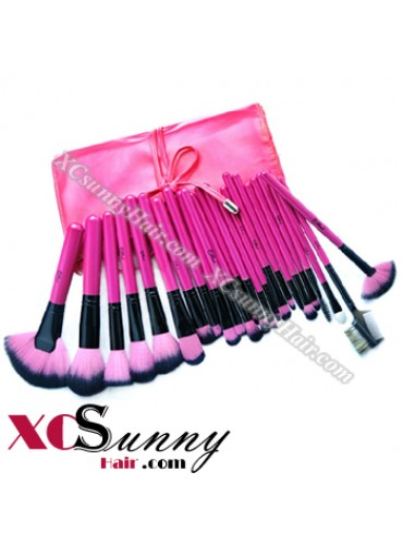 24PCS SENIOR PINK MAKEUP BRUSH SET [MKS008]