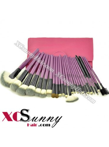 24PCS SENIOR PURPLE MAKEUP BRUSH SET [MKS009]