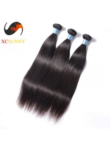 Wholesale Mix Length 3pcs-12-26 Inch 5A Deluxe Straight 100% Peruvian Virgin Hair Weave Remy Human Hair Weft 100g/pcs [PHV046]