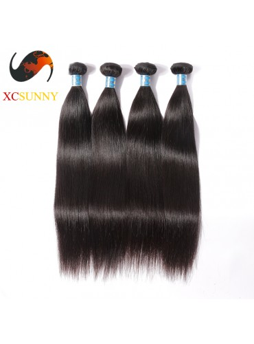 Wholesale Mix Length 4pcs-12-26 Inch 5A Deluxe Straight 100% Peruvian Virgin Hair Weave Remy Human Hair Weft 100g/pcs [PHV050]