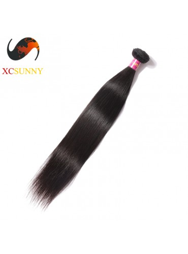 Wholesale-12-26 Inch 5A Deluxe Straight 100% Malaysian Virgin Hair Weave Remy Human Hair Weft 100g/pcs [MHV101]