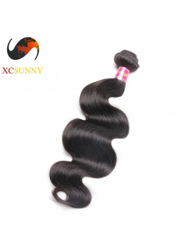 Wholesale-12-26 Inch 8A Deluxe Body Wave 100% Brazilian Virgin Hair Weave Remy Human Hair Weft 100g/pcs [BHV102]