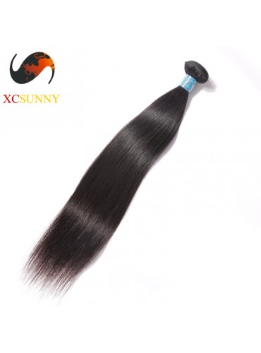 Wholesale-12-26 Inch 5A Deluxe Straight 100% Peruvian Virgin Hair Weave Remy Human Hair Weft 100g/pcs [PHV038]