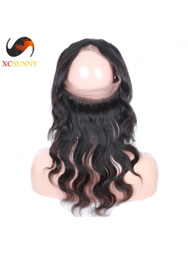 XCsunnyHair Body Wave 360 Lace Frontal 7A Unprocessed Virgin Hair Full Lace Frontal Closure [LFC032]
