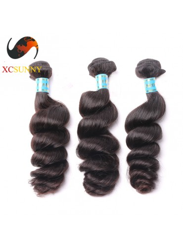 Wholesale Mix Length 3pcs-12-26 Inch 5A Deluxe Loose Wave 100% Peruvian Virgin Hair Weave Remy Human Hair Weft 100g/pcs [PHV048]