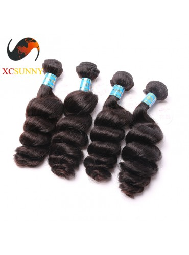 Wholesale Mix Length 4pcs-12-26 Inch 5A Deluxe Loose Wave 100% Peruvian Virgin Hair Weave Remy Human Hair Weft 100g/pcs [PHV052]