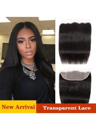 XCsunnyHair Virgin Human Hair Straight Lace Frontal 13x4 Inch Transparent Frontal Closure [LFC006]