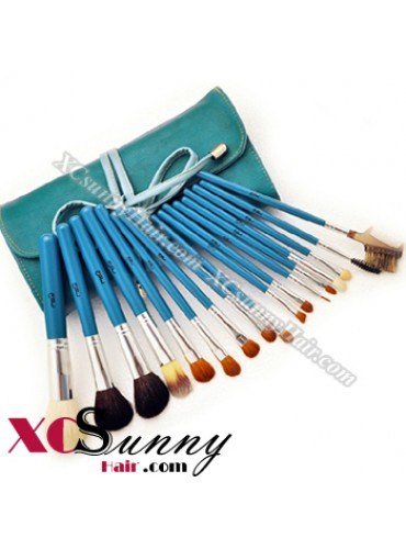17PCS PROFESSIONAL SKY BLUE MAKEUP BRUSH SET [MKS007]