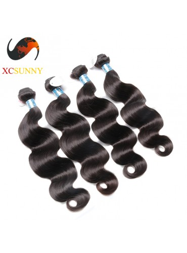 Wholesale Mix Length 4pcs-12-26 Inch 5A Deluxe Body Wave 100% Peruvian Virgin Hair Weave Remy Human Hair Weft 100g/pcs [PHV051]