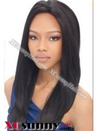14 Inch Silky Straight #1B Full Lace Wigs 100% Indian Remy Human Hair [FLH264]