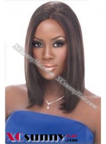 12 inch Silky Straight #2 Lace Front Wigs 100% Indian Remy Human Hair [LFH223]