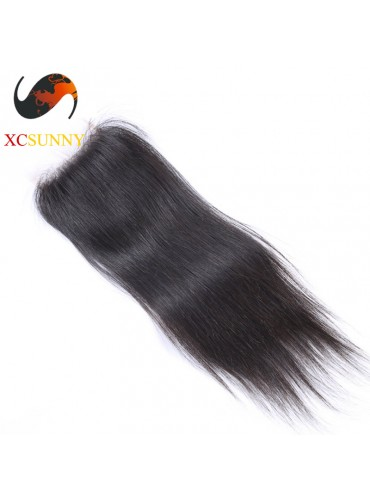 Peruvian 5A Straight Lace Closure Silk Base 8-20 inch 100%  Virgin Remy Human Hair Wholesale 100g/pcs [PLC003]