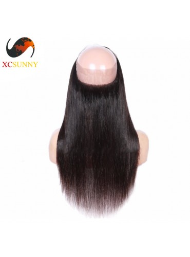 XCsunnyHair Straight 360 Lace Frontal 7A Unprocessed Virgin Hair Full Lace Frontal Closure [LFC031]
