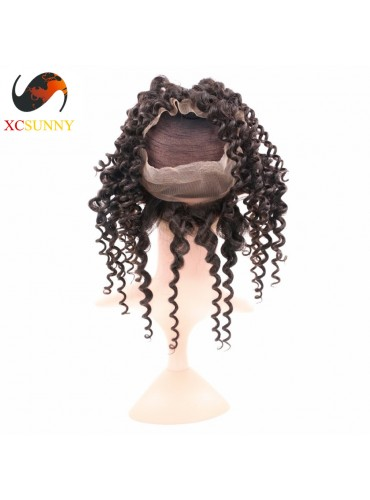 XCsunnyHair Deep Wave Wave 360 Lace Frontal 7A Unprocessed Virgin Hair Full Lace Frontal Closure [LFC033]