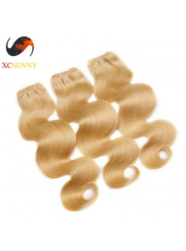 Wholesale Mix Length 3pcs-12-26 Inch #613 7A Deluxe Body Wave 100% Brazilian Virgin Hair Weave Remy Human Hair Weft 100g/pcs [BHV607]