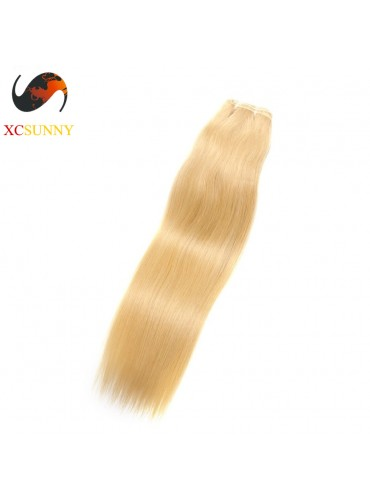 Wholesale-12-26 Inch #613 7A Deluxe Straight 100% Brazilian Virgin Hair Weave Remy Human Hair Weft 100g/pcs [BHV601]